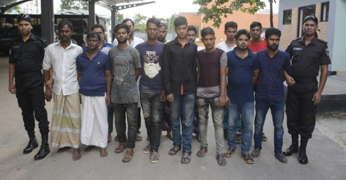 নারায়ণগঞ্জে ১৪ ছিনতাইকারী গ্রেপ্তার
